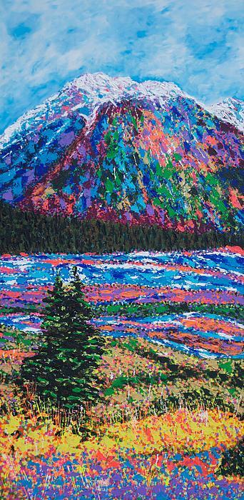 Icefields Alberta Mountain Print by Joyce Sherwin