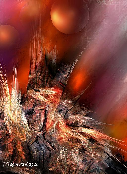 Icefire Print by Francoise Dugourd-Caput
