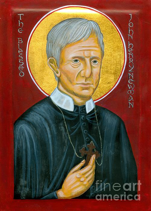 Icon Of The Blessed John Henry Newman Print by Juliet Venter