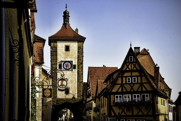 Iconic Rothenburg Print by Joanna Madloch