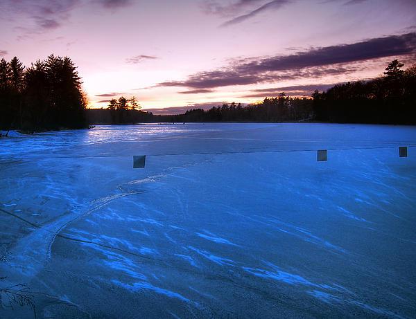 Icy Sunset Print by Joann Vitali