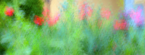 If My Front Yard Was Giverny Print by Theresa Tahara