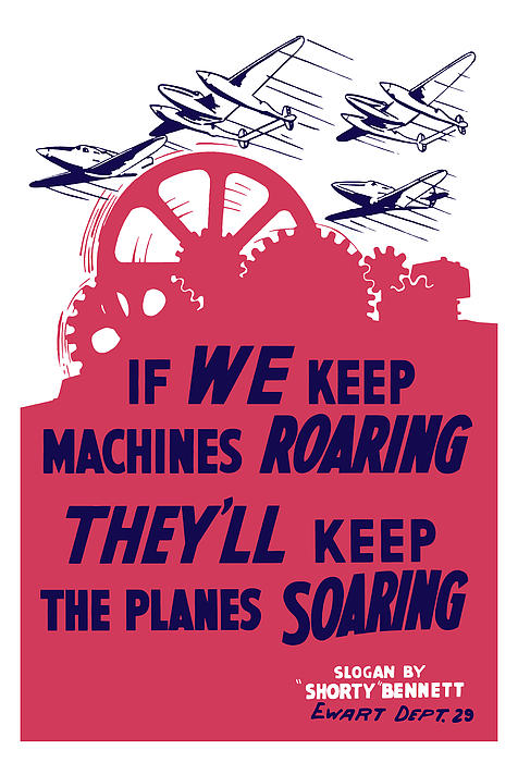 If We Keep Machines Roaring Print by War Is Hell Store