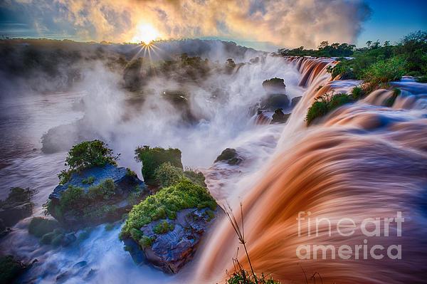 Iguazu Sunrise Print by Inge Johnsson
