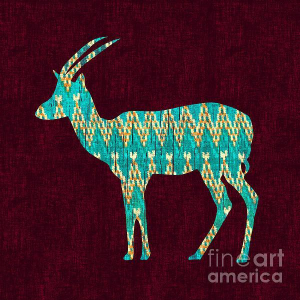 Ikat Antelope Print by Budi Satria Kwan