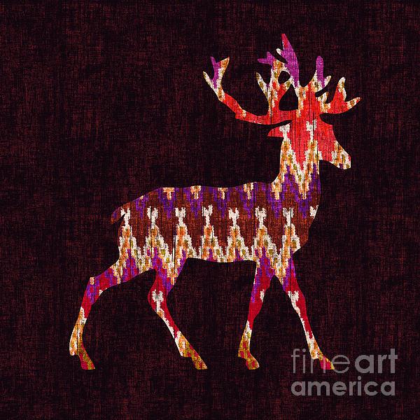 Ikat Deer Print by Budi Kwan