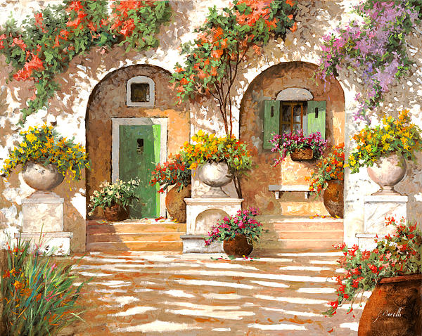 Il Cortile Print by Guido Borelli