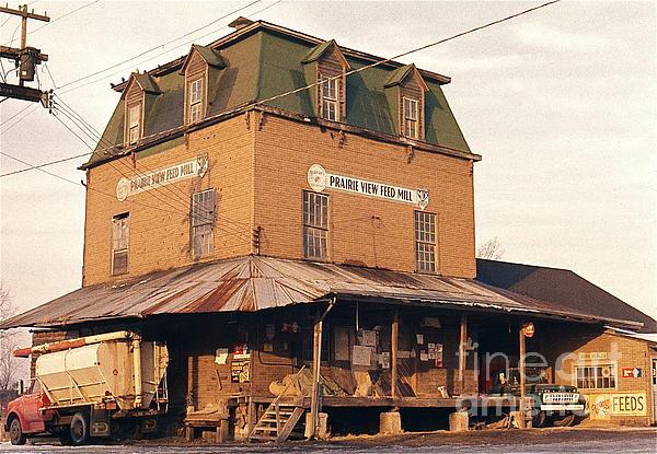 Illinois Feed Mill Print by Robert Birkenes