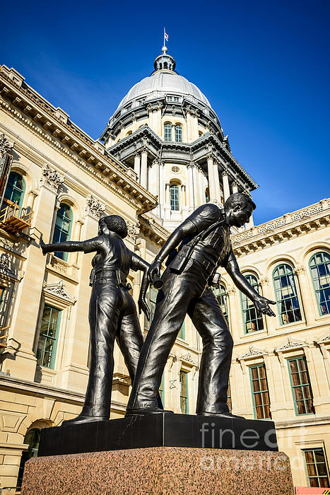 Illinois Police Officers Memorial In Springfield Print by Paul Velgos