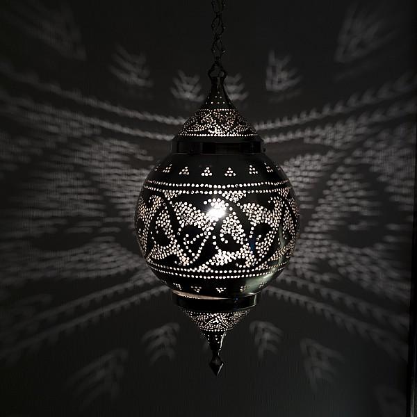 Illuminated Hanging Light Fixture Print by Keith Levit
