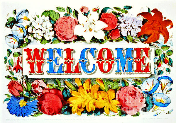 Illuminated Welcome Sign 1873 Print by Padre Art