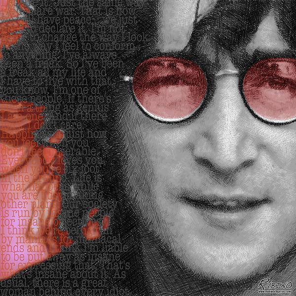 Imagine John Lennon Again Print by Tony Rubino