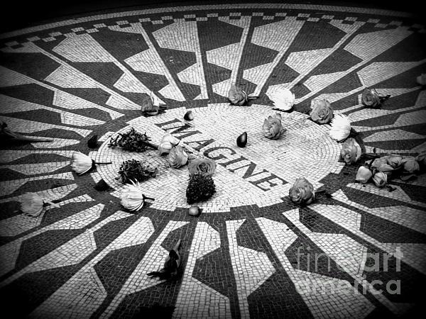 Imagine Memorial In New York City. Print by Sonia Elisseeva