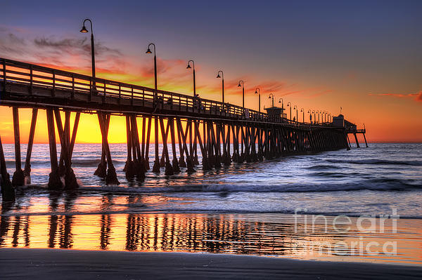 Imperial Beach Pier Print by Eddie Yerkish