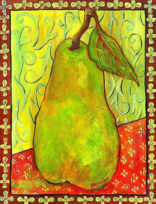 Impressionist Style Pear Print by Blenda Studio