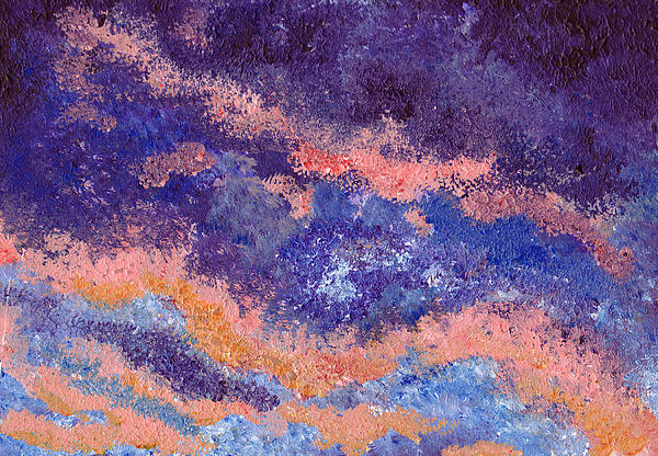 Impressionist Sunset Print by Tricia Griffith