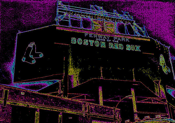 Impressionistic Fenway Park Print by Gary Cain
