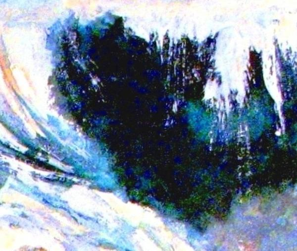 Impressionistic Waterfall Print by Hazel Holland