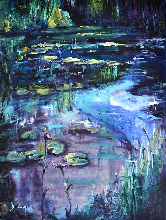 Impressions Of Giverny Print by Donna Tuten