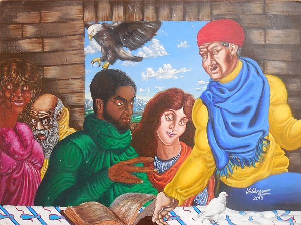 In Discussion Print by Valdengrave Okumu
