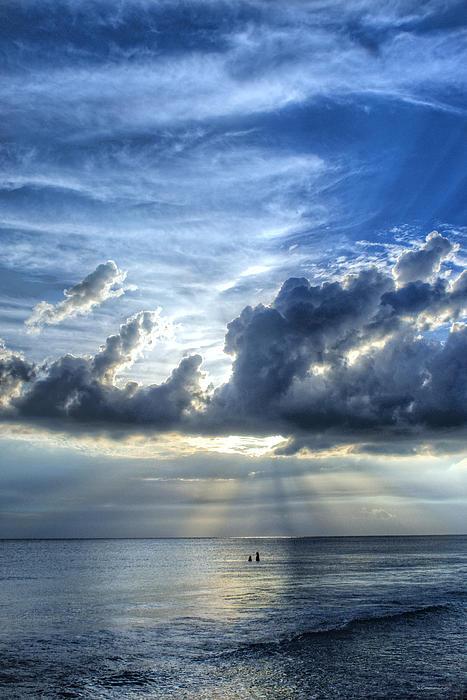 In Heaven's Light - Beach Ocean Art By Sharon Cummings Print by Sharon Cummings
