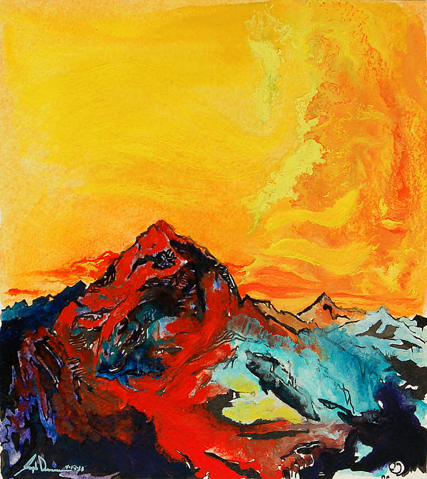 In Mountains Print by Joseph Demaree