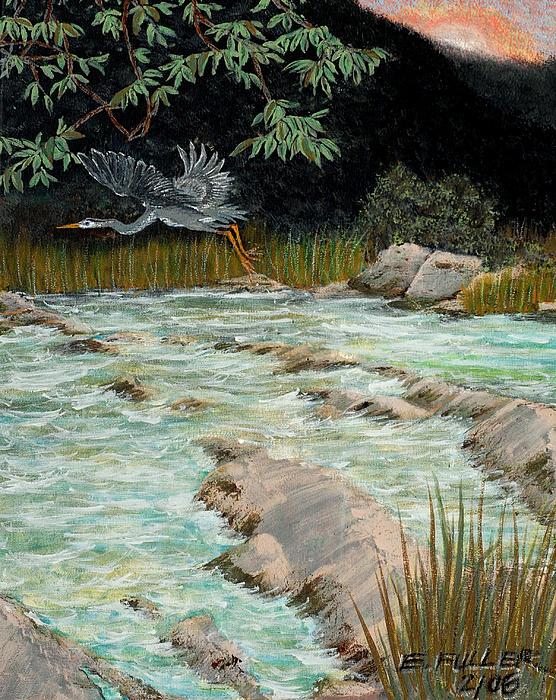 Edward Fuller - Solitary Heron