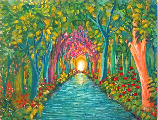 In The Garden Print by Deyanira Harris