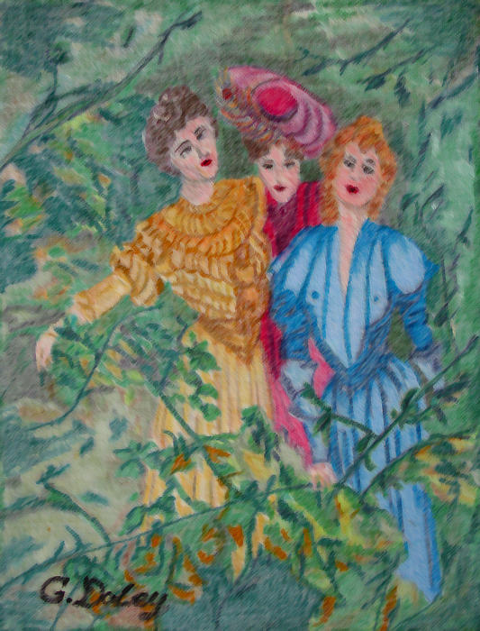 In The Garden Print by Gail Daley