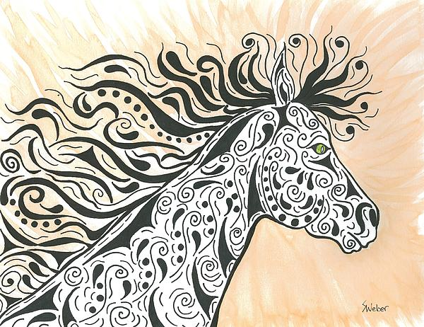 In The Wind Print by Susie WEBER