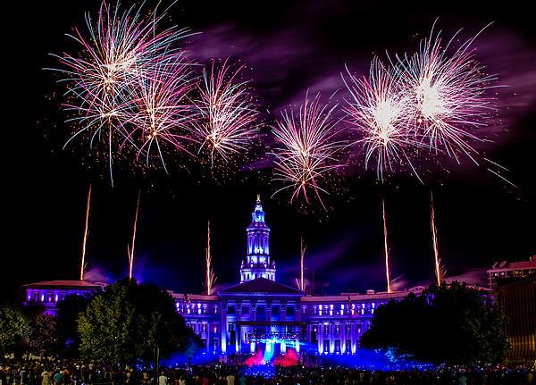 Independence Eve In Denver Colorado Print by Teri Virbickis
