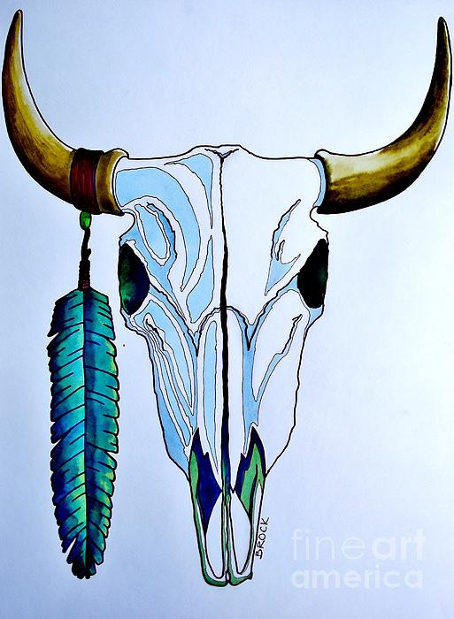 Indian Buffalo Print by Kyle  Brock