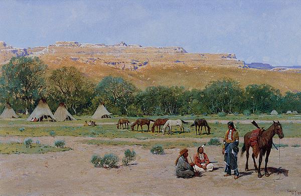 Indian Encampment Print by Henry Farny