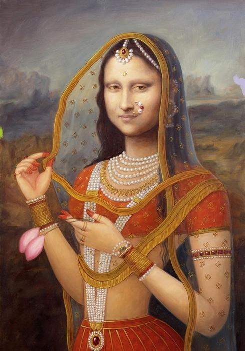 Indian Monalisa Print by Richa  Maheshwari