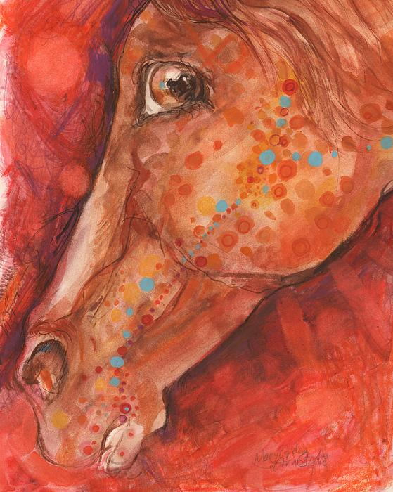 Indian Pony Print by Mary Armstrong