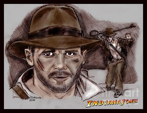 Indiana Jones Print by Chris  DelVecchio