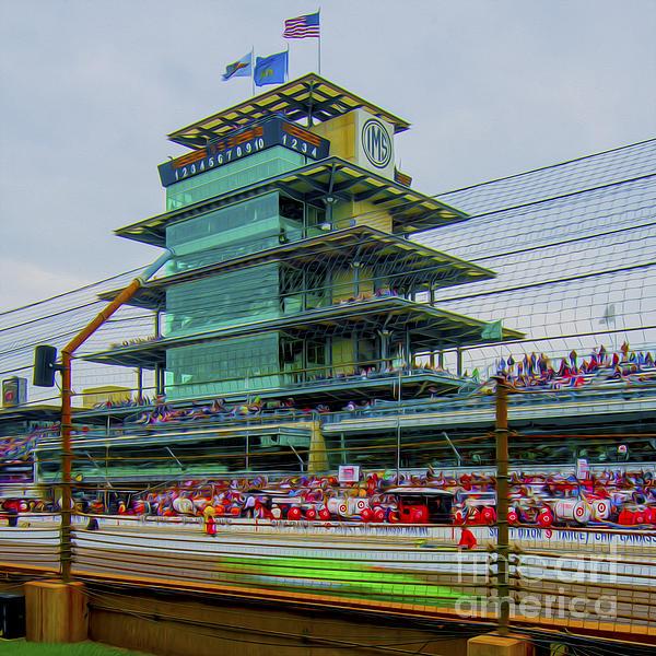 Indianapolis 500 May 2013 Square Print by David Haskett