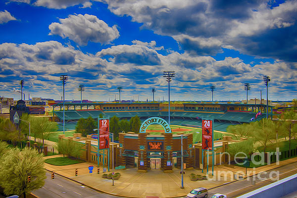 Indianapolis Indians Victory Field Print by David Haskett