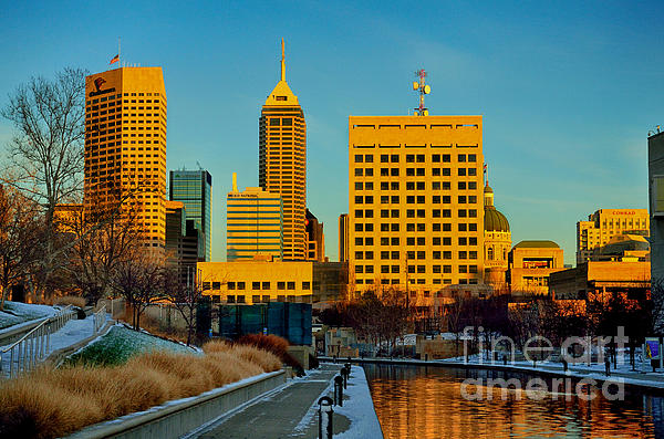 Indianapolis Skyline Dynamic Print by David Haskett