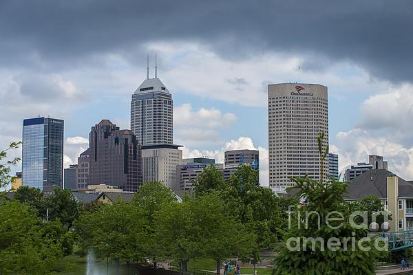 Indianapolis Skyline Storm 3 Print by David Haskett