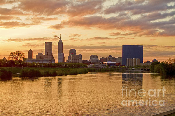 Indianapolis Sunrise Print by David Haskett