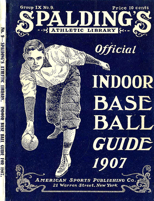 Indoor Base Ball Guide 1907 Print by American Sports Publishing