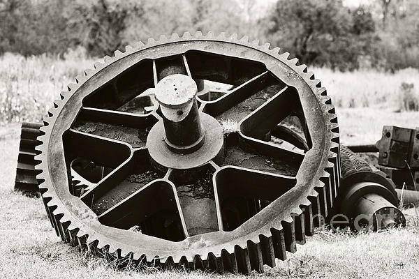 Industrial Gear Print by Scott Pellegrin