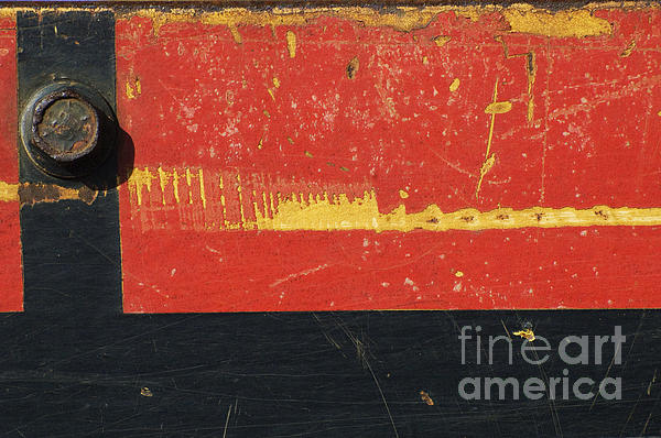 Industrial Rustic Abstract Print by Anahi DeCanio