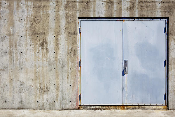 Industrial Unit Double Doors Print by Nathan Griffith