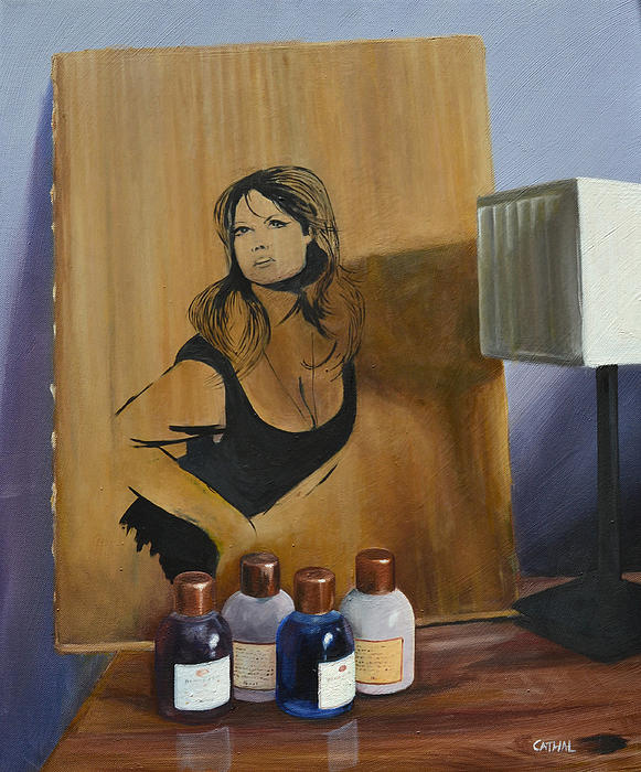 Ingrid On Cardboard Print by Cathal Gallagher