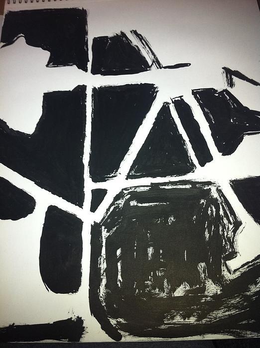 Ink Drawing Print by Khoa Luu