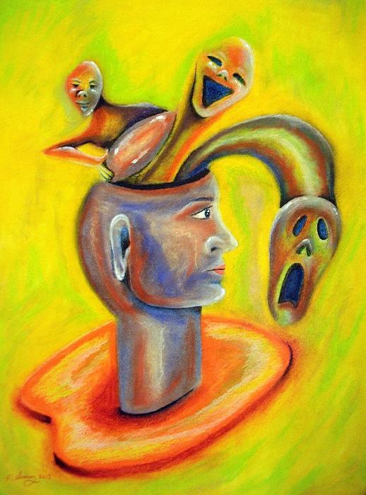 Inner Demons Print by Michael Alvarez