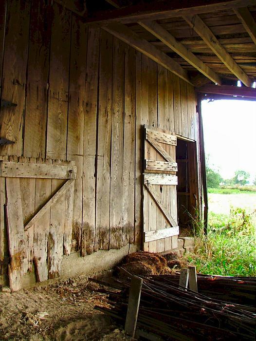 Inside An Indiana Barn Print by Julie Dant
