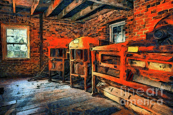 Inside Kerr Mill II - North Carolina Print by Dan Carmichael
